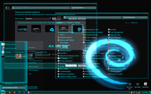 Win7 theme Blue Neon Glass by Megabink by superbink
