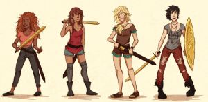 A Sword, an Armor and a Lipstick! by WanderingLola