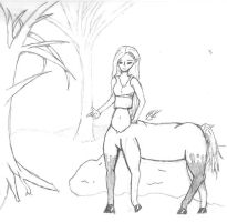 Centaur Out of CatNip's World by SeaGoatInk