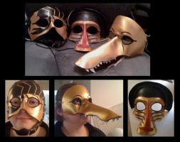 Egyptian Mask Trio by MummersCat
