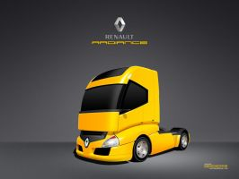 Vector Renault Radiance Truck by zaib