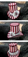 Peppermint Panache Mini Top Hat by ImperialFiddlesticks