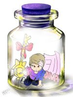 Key in a bottle by Pulimcartoon