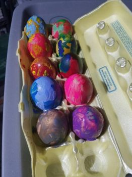 Multi Color Tye Dye Eggs by CODO912
