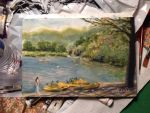Spring Lake Painting by geralddedios