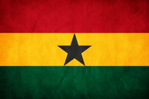 Ghana Grunge Flag by think0