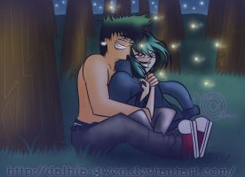 DxG: Hey,look the fireflies! by Dalhia-Gwen