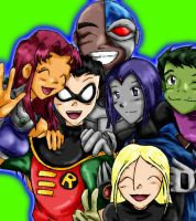 Teen Titans by ramhay