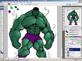 Hulk Color :WIP: by SparkStudios