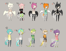 BATS N LIZARD ADOPTS CLOSED by Kiwi-adopts