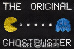Pacman Ghostbuster CrossStitch by LordLibidan