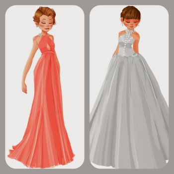 oscars dresses - anna and felicity by Peng-Peng