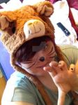 Me wearing the Llama Hat and sharpie whiskers by SiobhanLawX