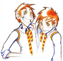 Fred and George by Slotshe