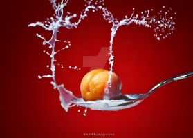 apricot splash by sdfphotography