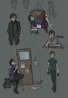 Very Clean  Sherlock Sketches by Toxic-Containment