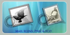 Carrier Pigeon Mail Dock Icons by lehighost
