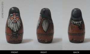 Herman Toothrot nesting doll by LeonieIsaacs