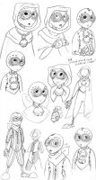 9: 66 and 36 Concept Sketches by NeroStreet