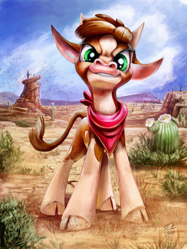 Arizona Cow by Tsitra360