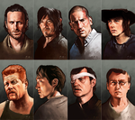 The Walking Dead, Heroes and Villains by nirnalie