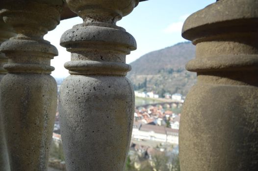 View from Heidelberg castle by saradrawer