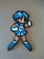 Perler Bead Sailor Mercury by craftemu