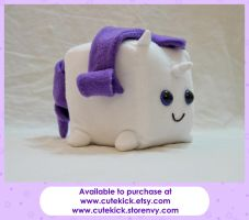 Rarity Companion Cube Pony by cutekick