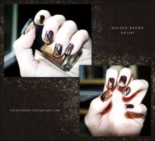 Golden Brown - Nailart by toteZitrone