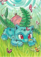 Thales The Ivysaur ART TRADE by karookachoo