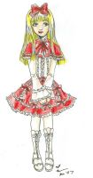 Red and White Lolita by Tamao