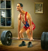 Stretched weightlifter by funkwood