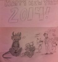 HAPPY NEW YEAR 2014! by pikachu1452