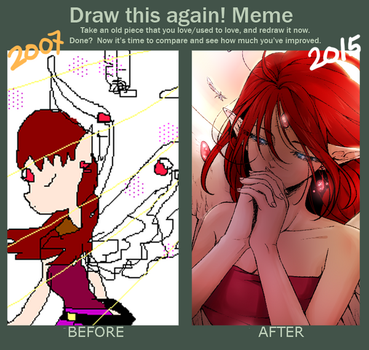 Draw this again meme - Angel by Kappy00