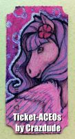 Ticket-ACEO - SugaBunneh by Crazdude