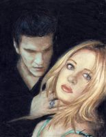 Buffy and Angel by VeronickArt