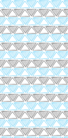 Black/Blue Sketchy Triangles Custom BG by mini-britt