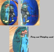 Perry the Platypus and Platyborg Mask by GrovyleFangirl1997