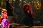 Merida and rapunzel day at the lake by JustMeMerel