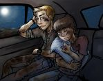 Sam and Dean Winchester Young: Car Ride by 0Indiantiger0