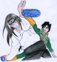 Neji vs Lee by Sharingandevil by AkuNinjia
