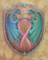Celtic Dragons Coat of Arms by goldenSalamander