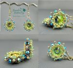 Starburst Earrings Collage by beadg1rl