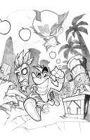 CRASH BANDICOOT [lines] by thekidKaos