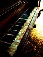 Antique Piano by ElleonDire