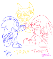 .:TTT:. Triple Threat Sketch by SEGAMew