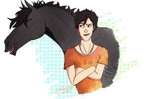 Percy and Blackjack by Nuffedilla