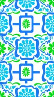 Textile Pattern - Cool Colors by amdillon