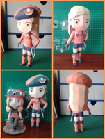 Downloadable Pokemon X and Y Ranger F Papercraft by MountainOfCookies