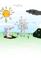 Girl Bunnehs Don't Like Mud by Obey-the-soapbubble
